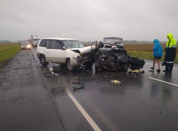 Лобовая авария на трассе Тюмень - Омск, погиб водитель ВАЗа