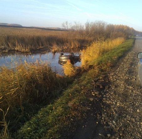 В Казанском районе пьяный мужчина утопил в канаве Mitsubishi и погиб сам