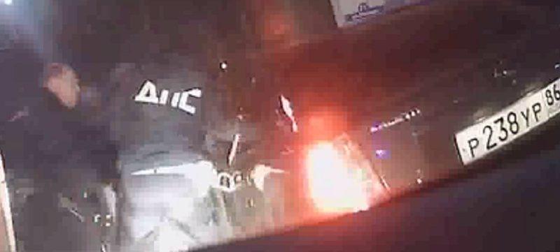 Ночью сотрудники ДПС задержали пьяного бесправника, который удирал от наряда Росгвардии