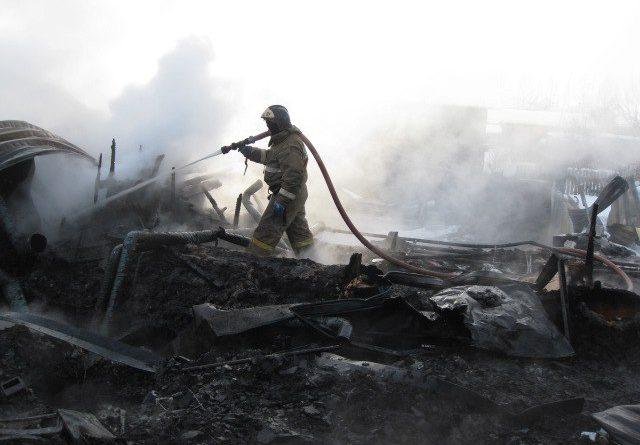 пожар в Киева