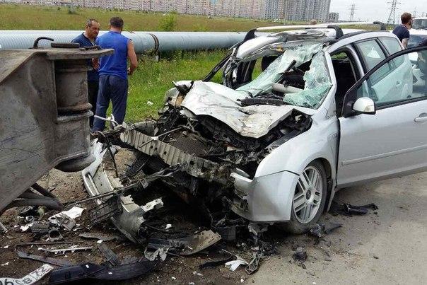 Форд в автокран на тюменской объездной