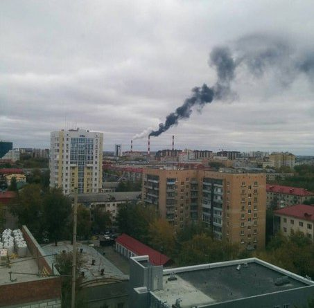 ТЭЦ-1 дым