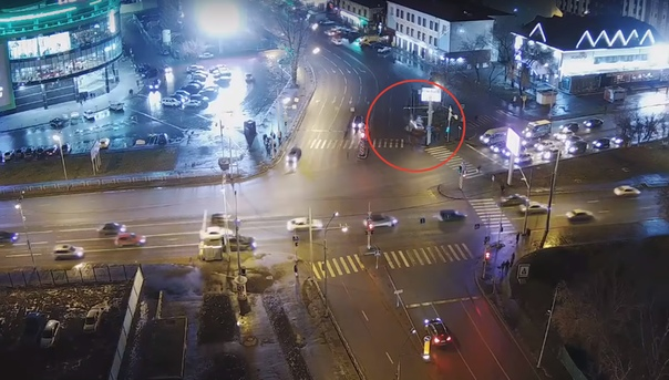 видео наезда в Тюмени