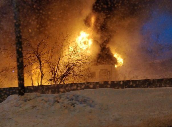 пожар в Зареке