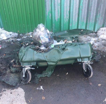 горят мусорки