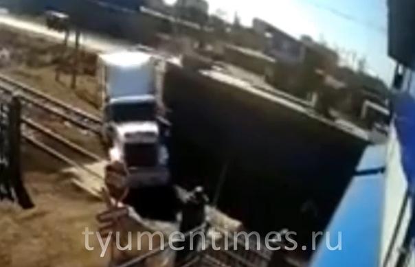 локомотив врезался