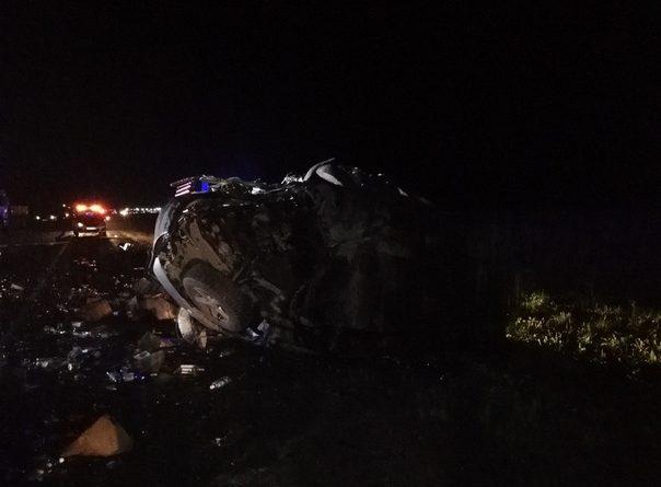 Ночная авария под Малыми Брусянами: Skoda протаранила микироавтобус