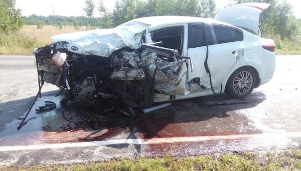 В лобовой аварии на трассе Вагай-Аромашево погиб водитель KIA из Пыть-Яха