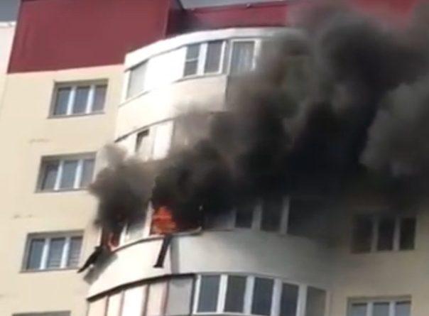 Пожар в высотке на Гольцова в Тюмени. ВИДЕО очевидцев