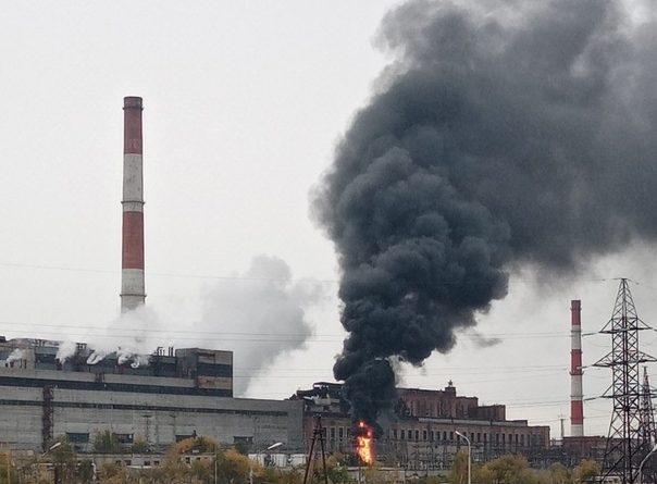 Пожар на ТЭЦ в Кургане. ФОТО, ВИДЕО очевидцев
