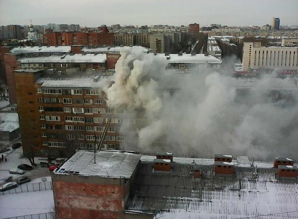 В пансионате на Олимпийской выгорела квартира на верхнем этаже