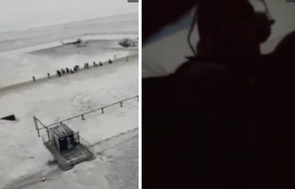 Опубликовано ВИДЕО жесткой посадки вертолета МИ-8 в Новом порту на Ямале