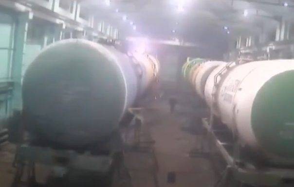 Опубликовано ВИДЕО момента трагедии в ремонтном вагонном депо в Ишиме