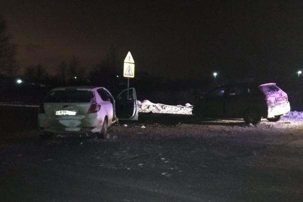 Вечерняя авария на Велижанском тракте: KIA вынесло на встречную полосу