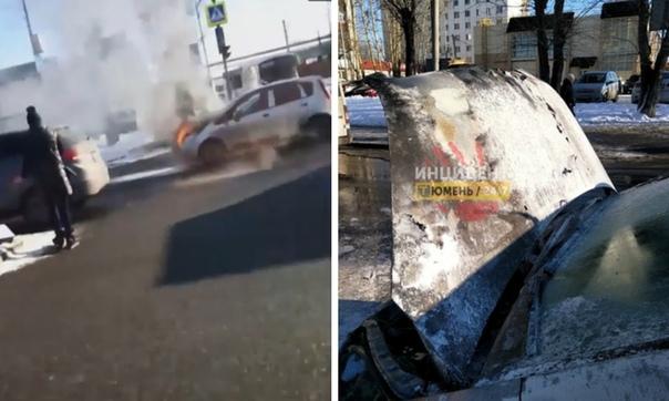 автовокзал вспыхнул автомобиль