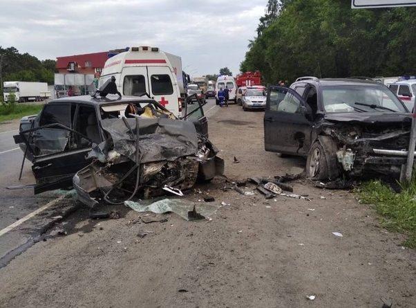 Лобовая авария на трассе под Заводоуковском. ФОТО, ВИДЕО очевидцев