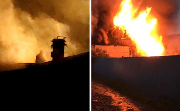 Под Тюменью горят дома из-за грозовых разрядов. ФОТО, ВИДЕО очевидцев