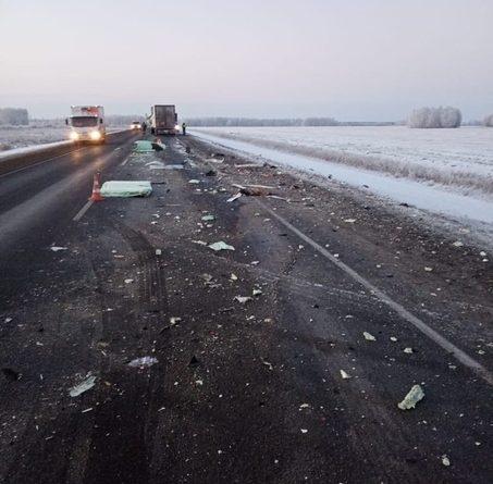 В лобовом столкновении двух фур на трассе Тюмень - Омск погиб дальнобойщик