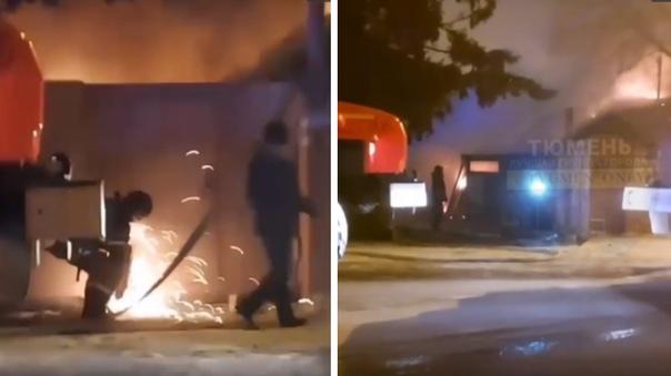 Пожарные болгаркой вырезали ворота. В пожаре на Депутатской погиб мужчина