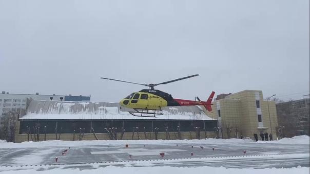 В Тюмени на территории второй областной больницы открыли вертолетную площадку