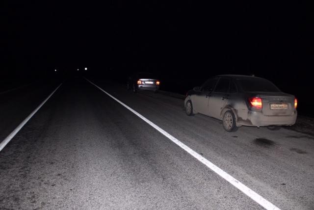 На трассе под Заводоуковском по пешеходу проехало три автомобиля