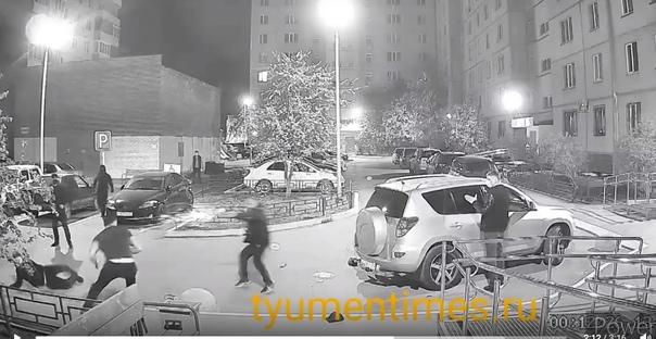 Опубликовано полное ВИДЕО ночной перестрелки на Обороне в Тюмени